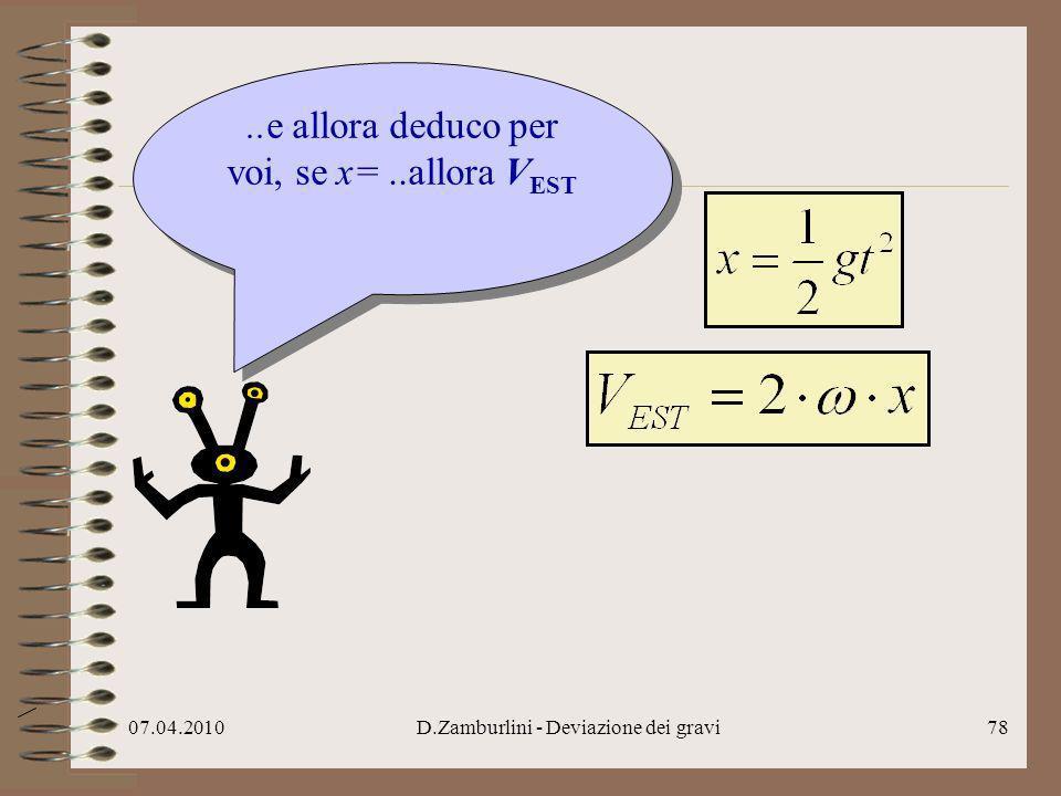 ..e allora deduco per voi, se x= ..allora VEST