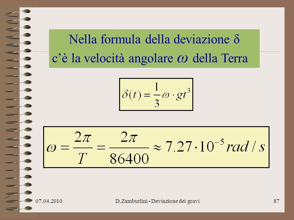 Nella formula della deviazione δ