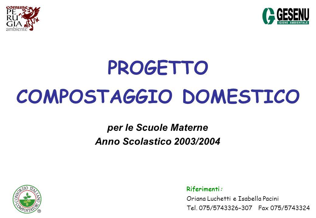 PROGETTO COMPOSTAGGIO DOMESTICO