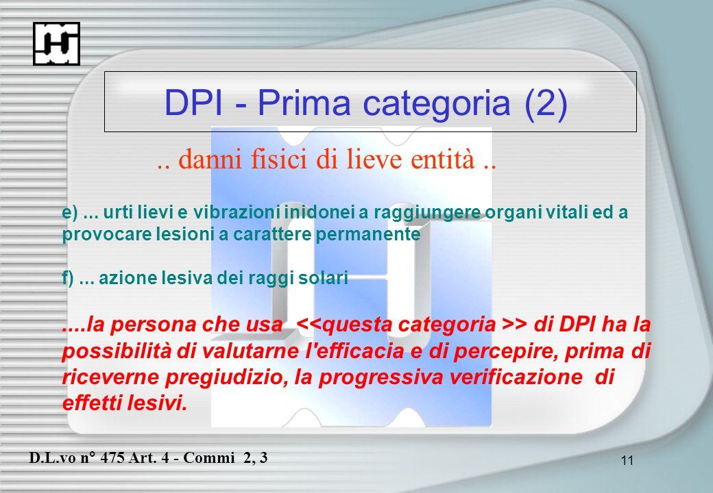 DPI - Prima categoria (2)