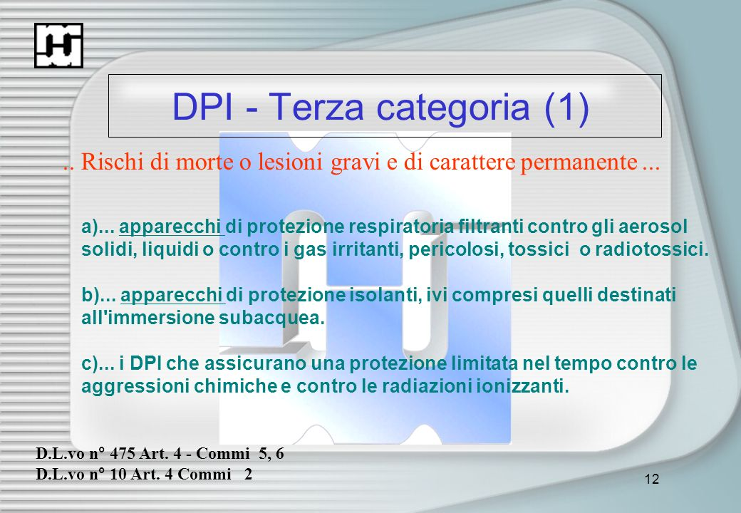 DPI - Terza categoria (1)