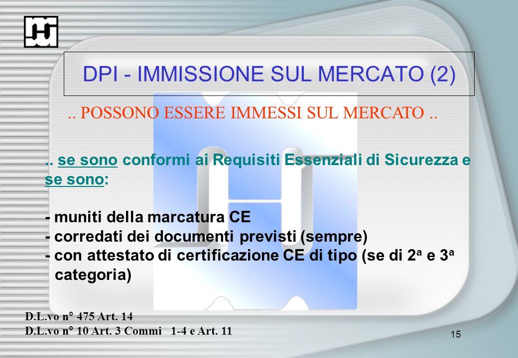 DPI - IMMISSIONE SUL MERCATO (2)
