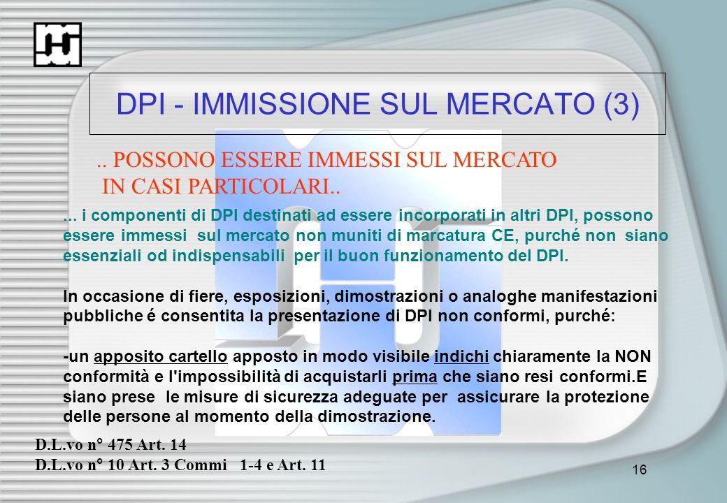 DPI - IMMISSIONE SUL MERCATO (3)