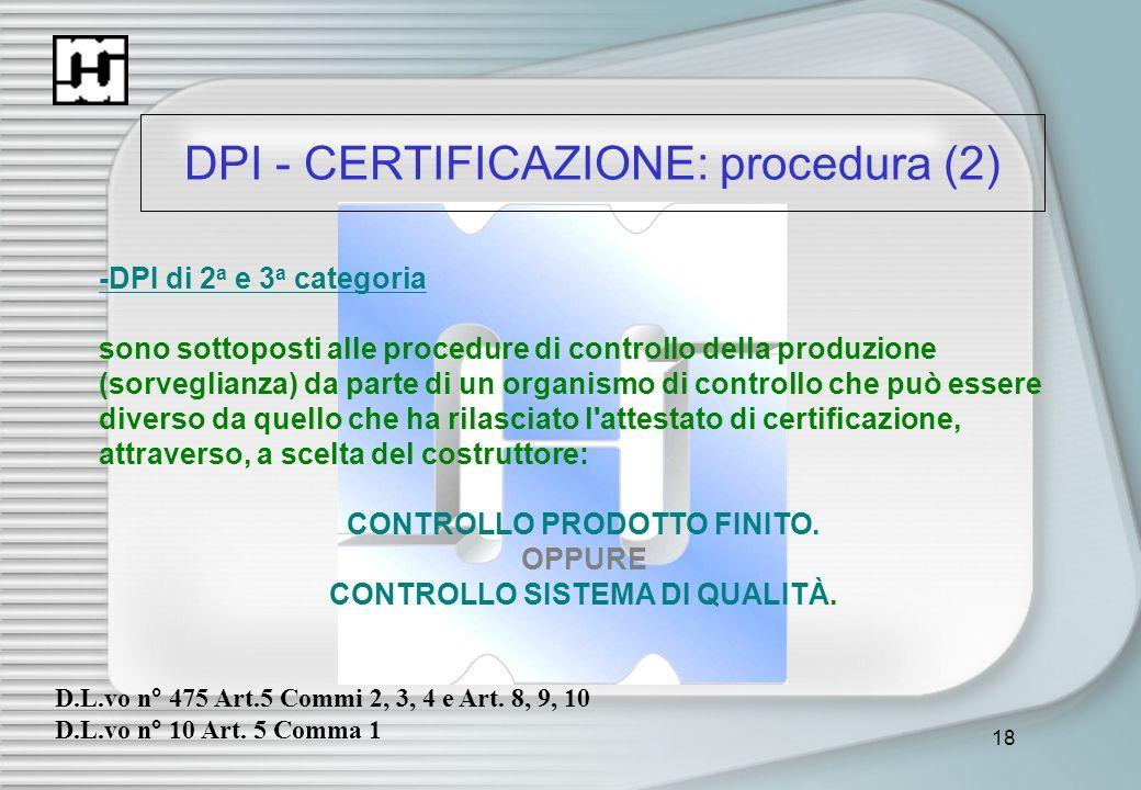 DPI - CERTIFICAZIONE: procedura (2)