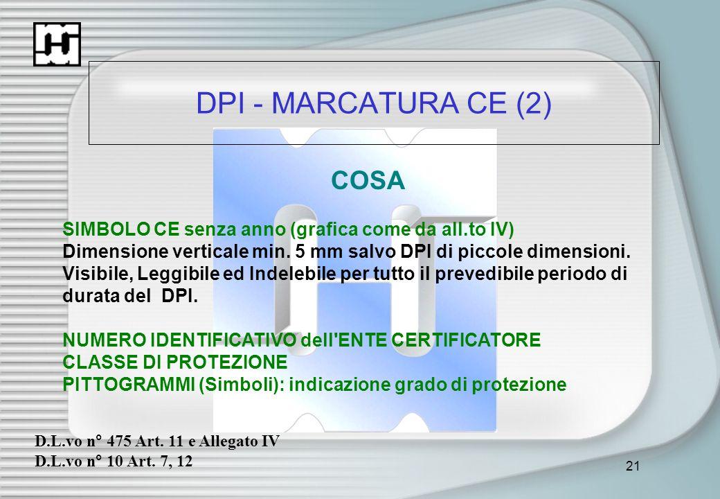DPI - MARCATURA CE (2) COSA