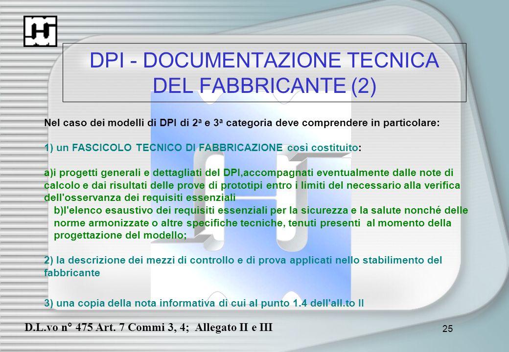 DPI - DOCUMENTAZIONE TECNICA DEL FABBRICANTE (2)