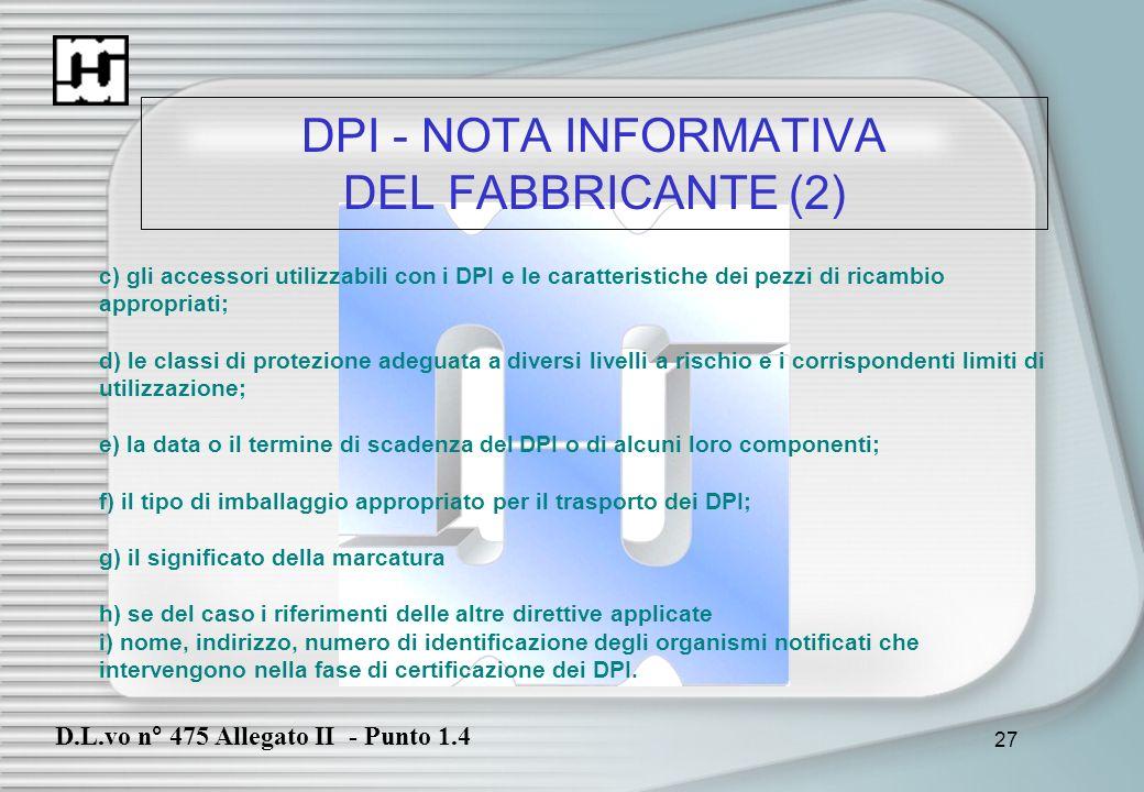DPI - NOTA INFORMATIVA DEL FABBRICANTE (2)