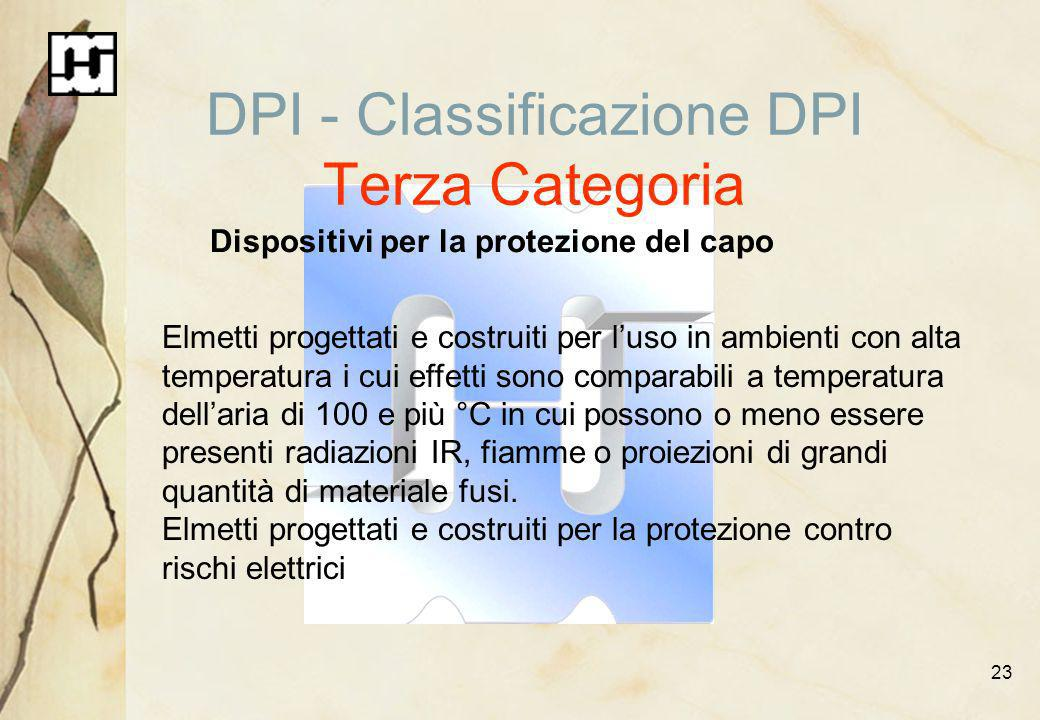 DPI - Classificazione DPI Terza Categoria