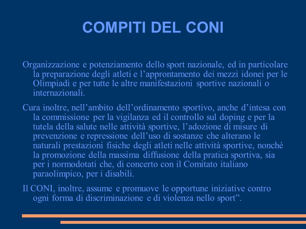COMPITI DEL CONI
