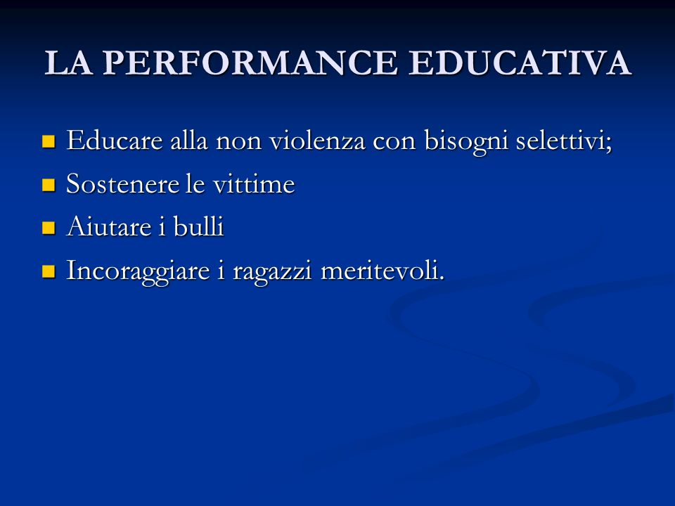 LA PERFORMANCE EDUCATIVA