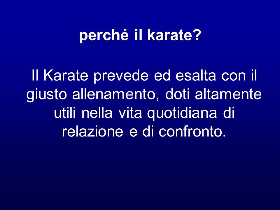 perché il karate.