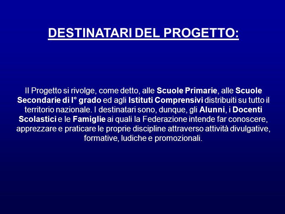 DESTINATARI DEL PROGETTO:
