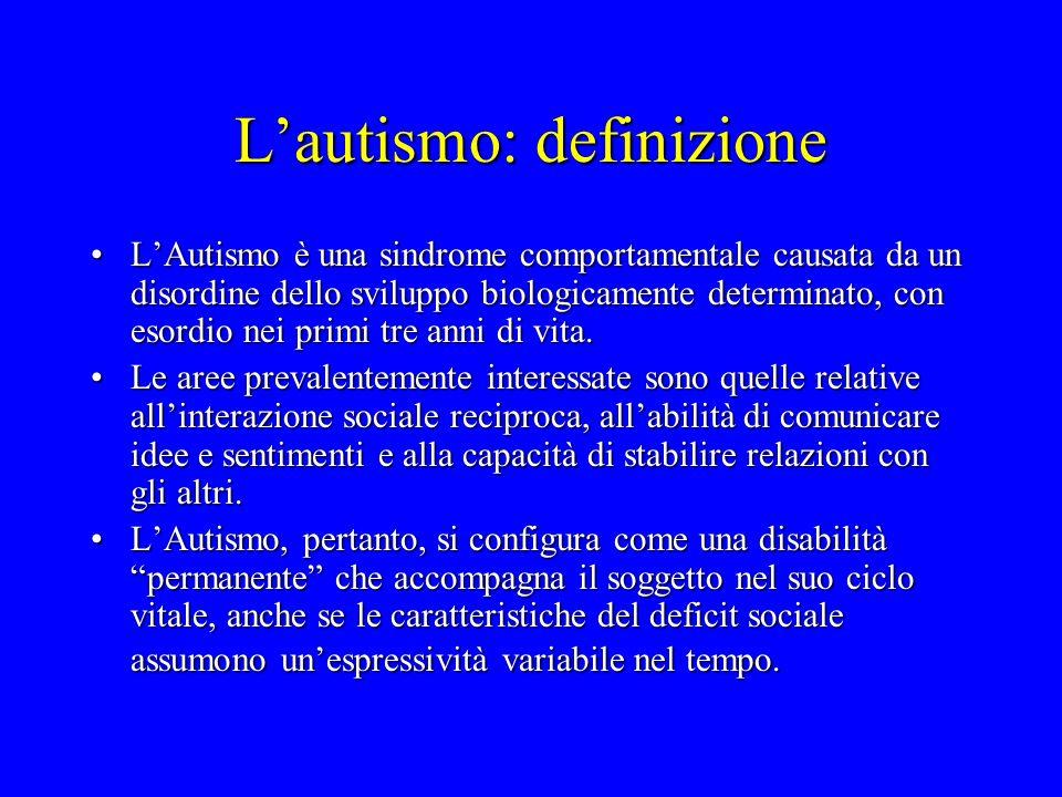 L'autismo: definizione
