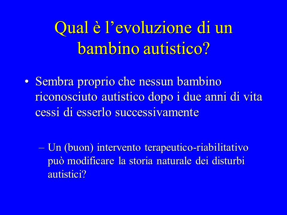 Qual è l'evoluzione di un bambino autistico