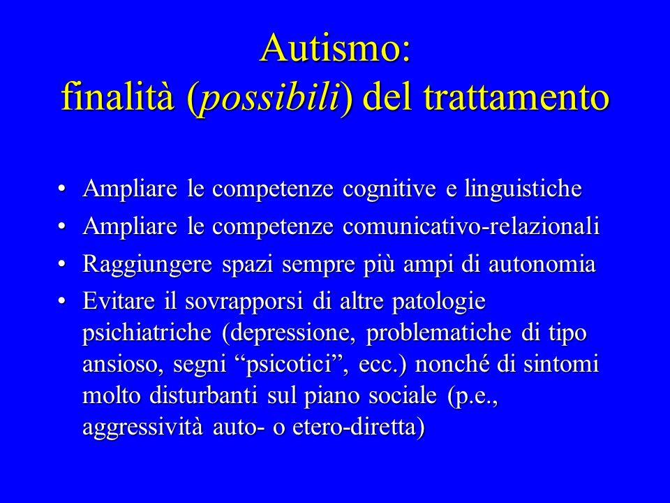 Autismo: finalità (possibili) del trattamento