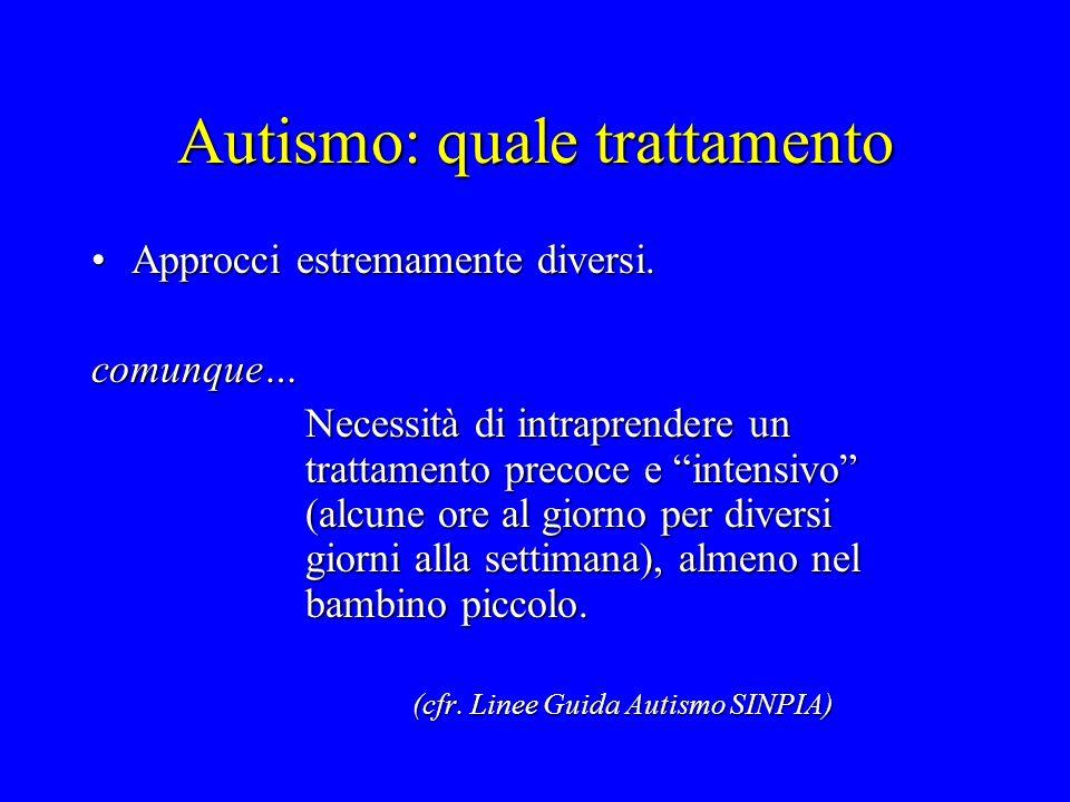 Autismo: quale trattamento