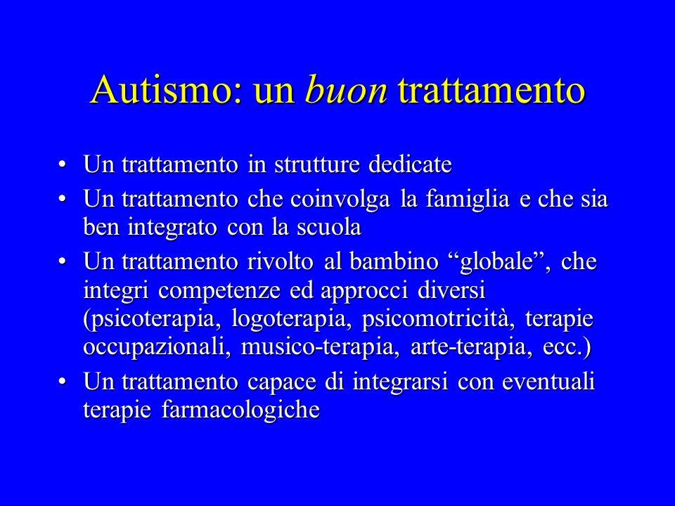 Autismo: un buon trattamento