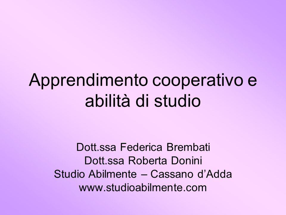 Apprendimento cooperativo e abilità di studio