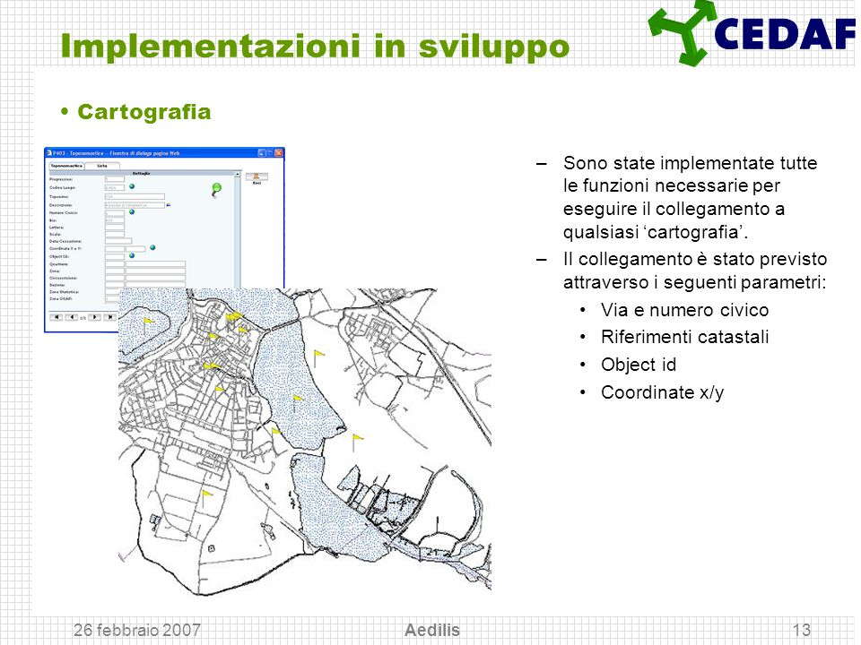 Implementazioni in sviluppo