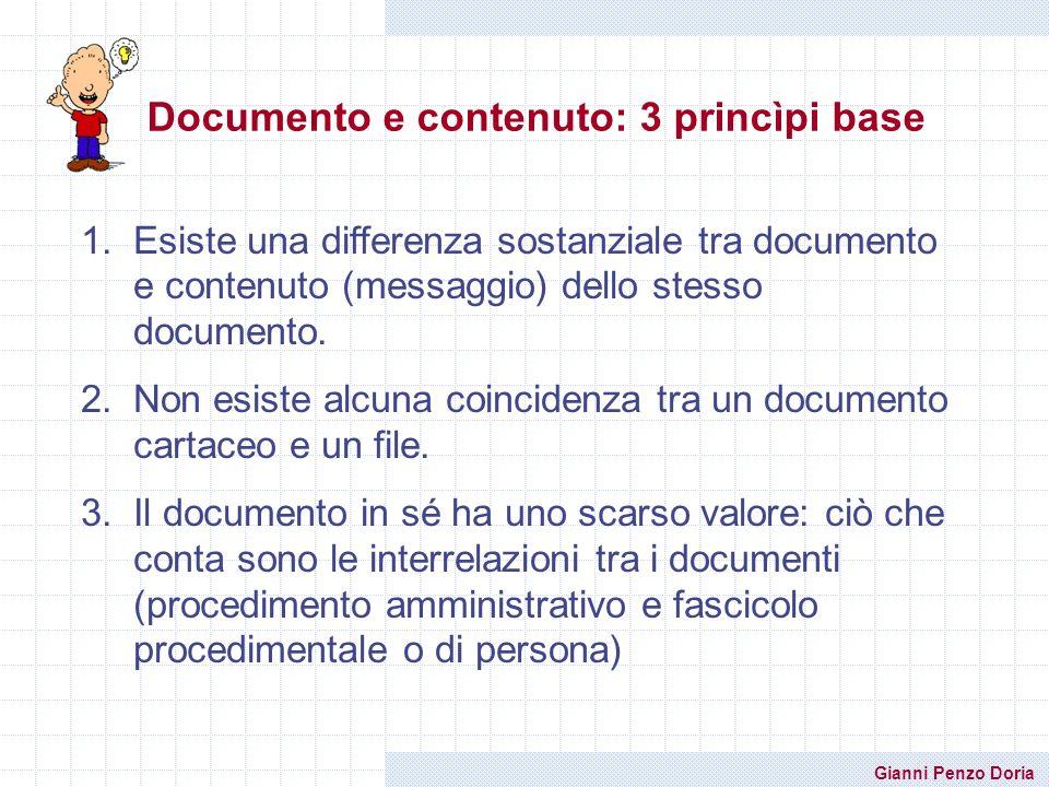 Documento e contenuto: 3 princìpi base