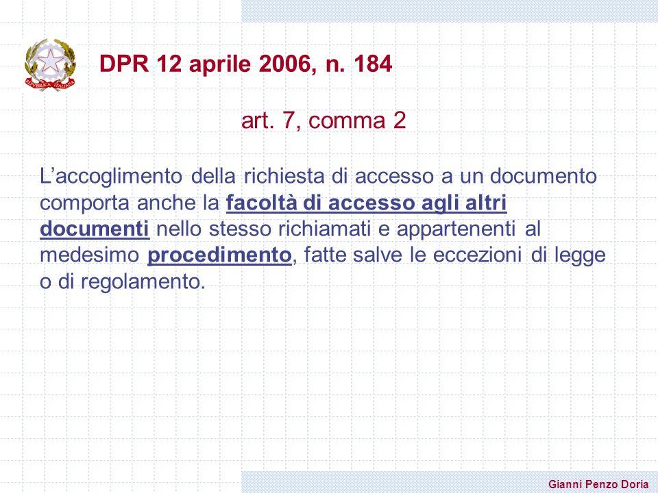 DPR 12 aprile 2006, n. 184 art. 7, comma 2.