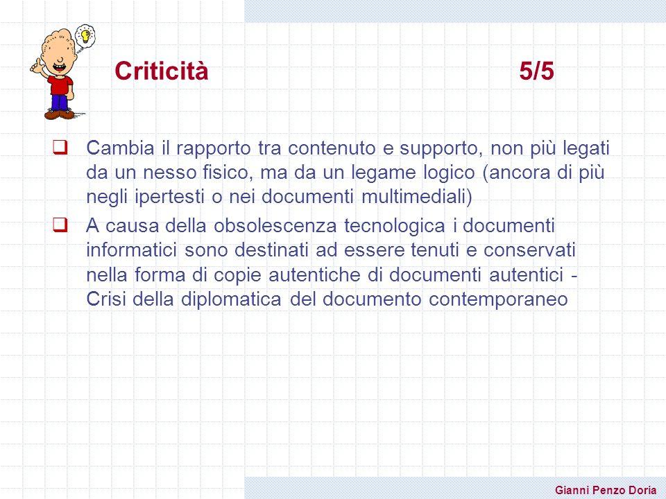 Criticità 5/5