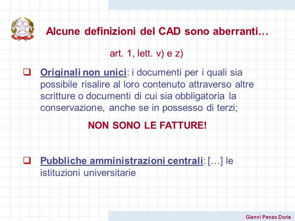 Alcune definizioni del CAD sono aberranti…