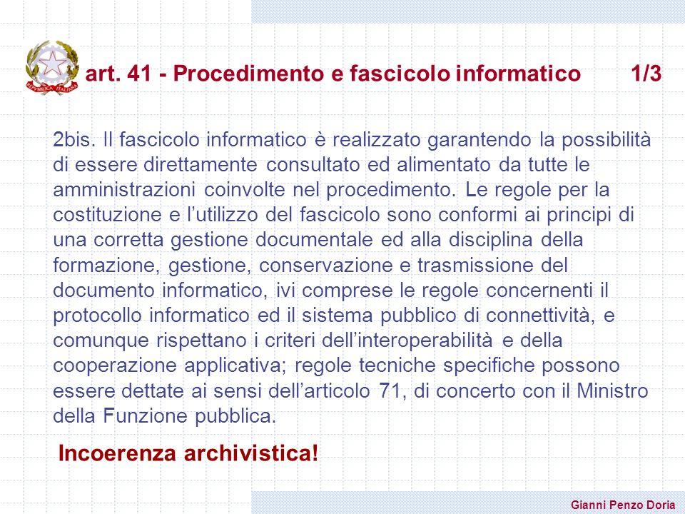 art. 41 - Procedimento e fascicolo informatico 1/3