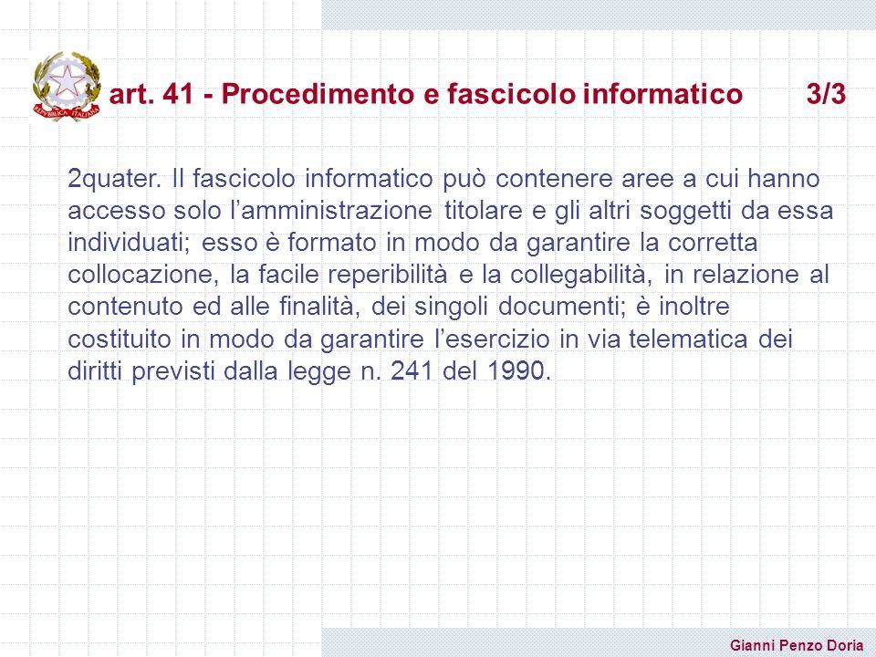 art. 41 - Procedimento e fascicolo informatico 3/3