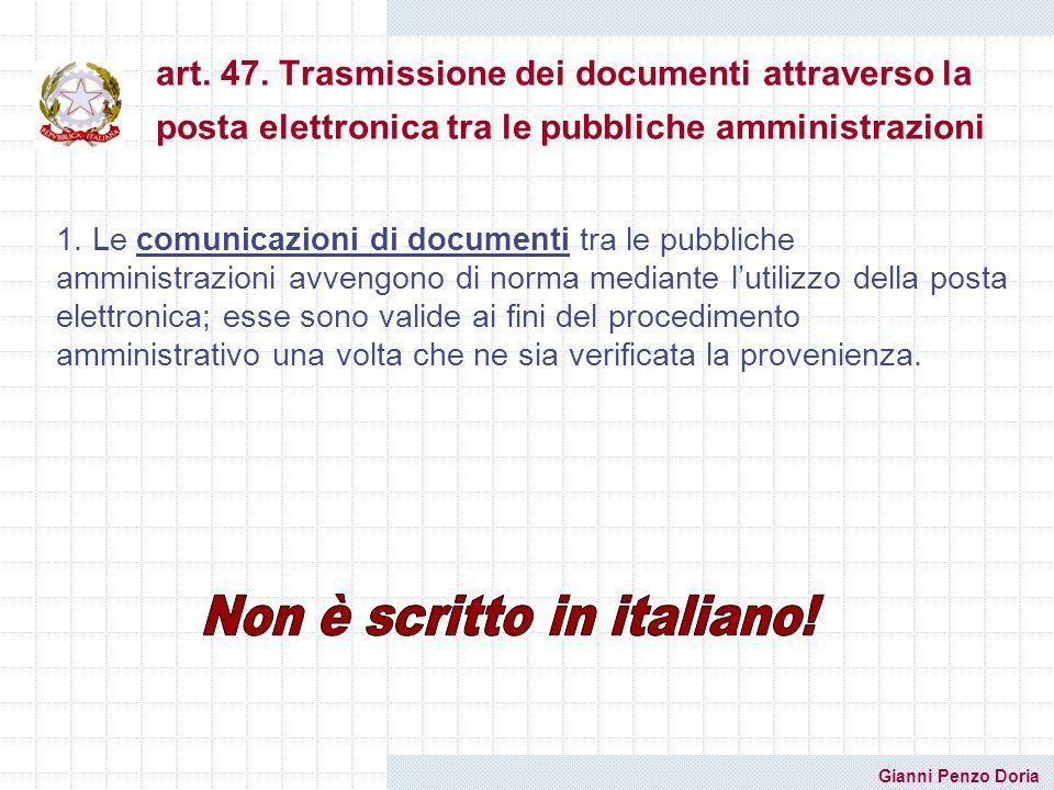 Non è scritto in italiano!