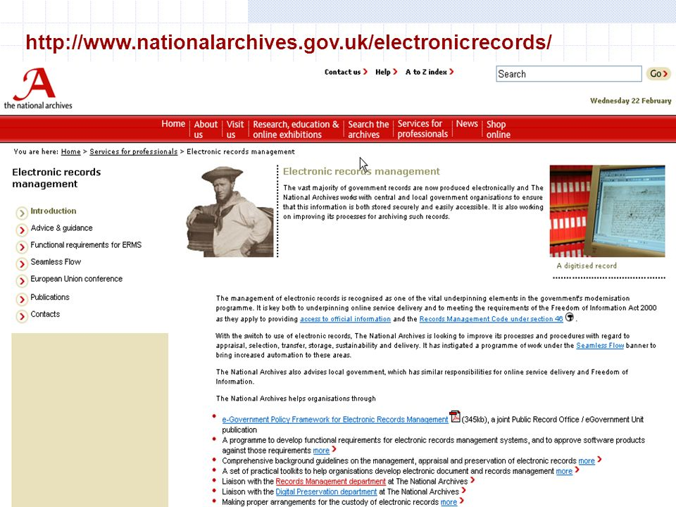 http://www.nationalarchives.gov.uk/electronicrecords/