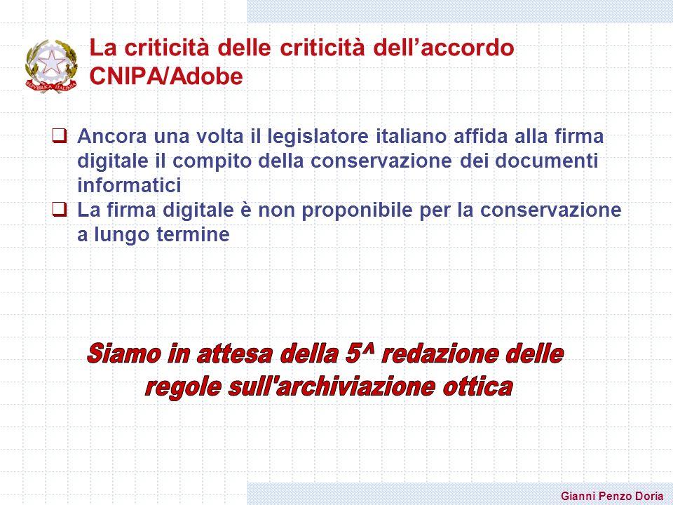 La criticità delle criticità dell'accordo CNIPA/Adobe