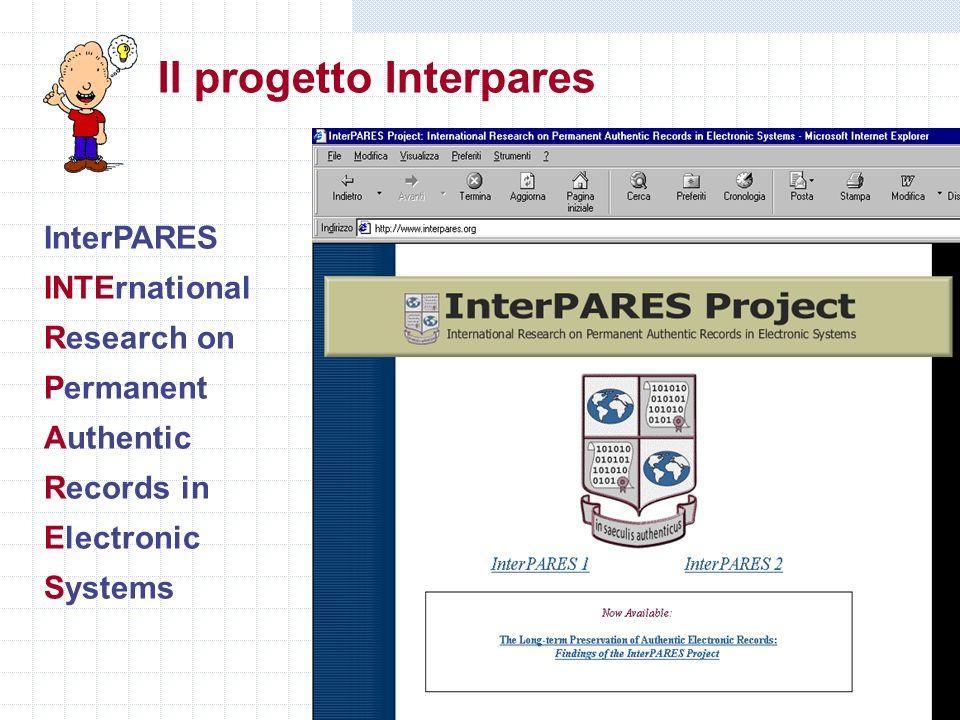 Il progetto Interpares