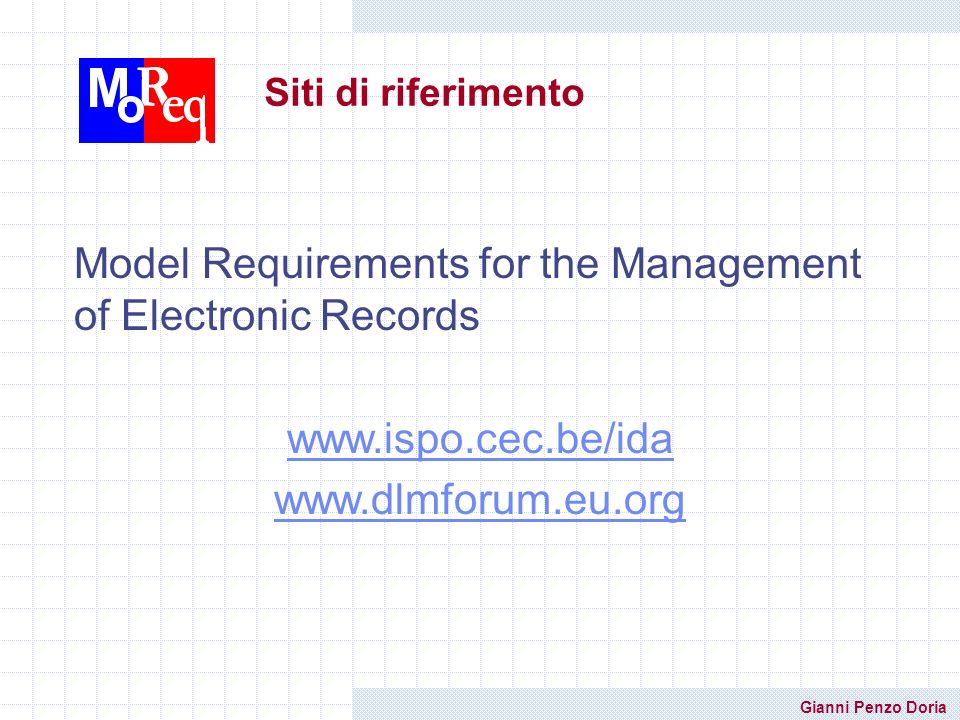 Model Requirements for the Management of Electronic Records