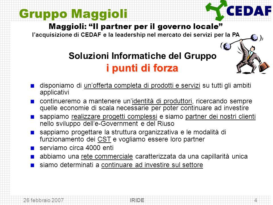 Gruppo Maggioli Soluzioni Informatiche del Gruppo i punti di forza