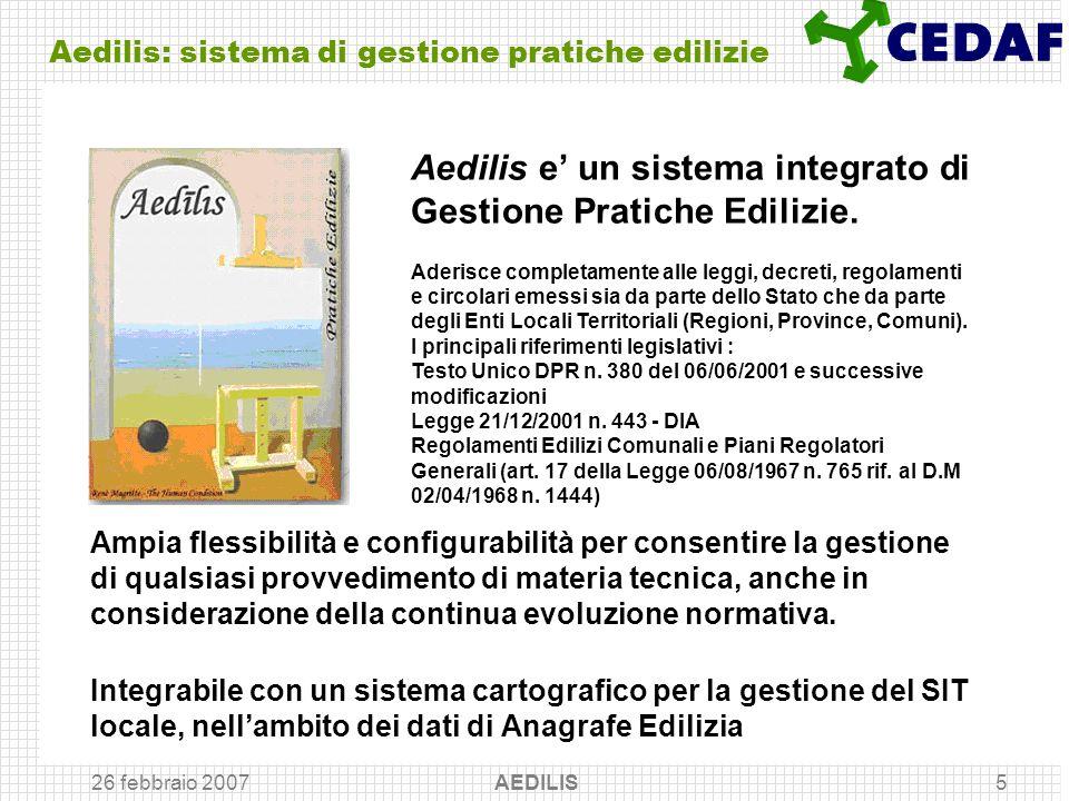 Aedilis: sistema di gestione pratiche edilizie