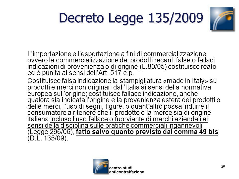 Decreto Legge 135/2009