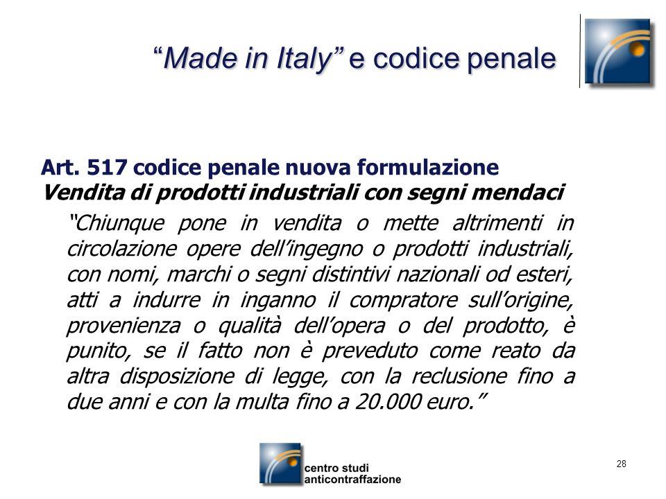 Made in Italy e codice penale