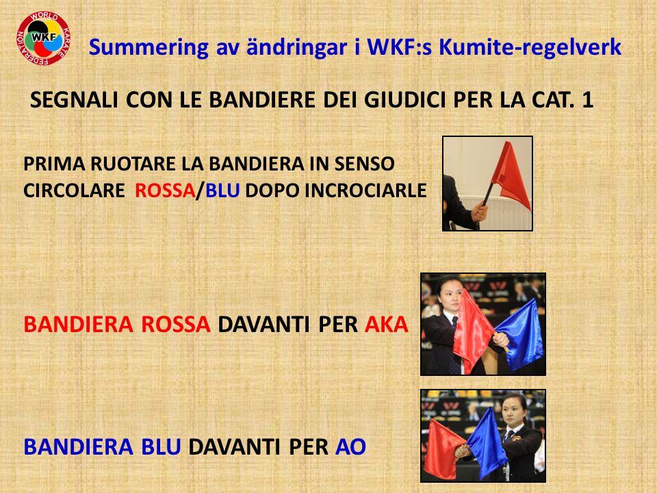 Summering av ändringar i WKF:s Kumite-regelverk