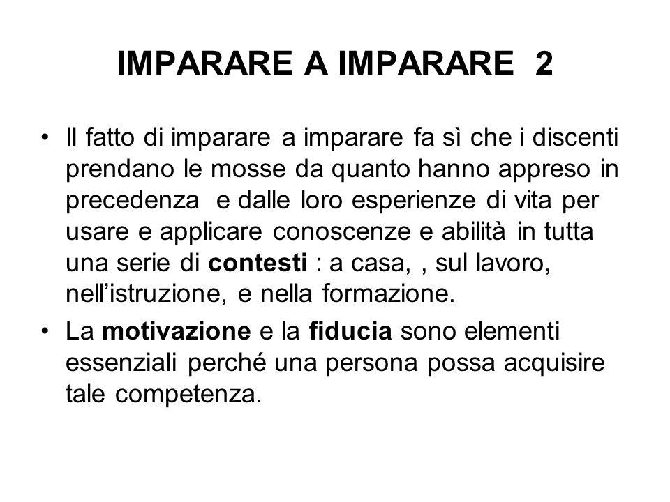IMPARARE A IMPARARE 2