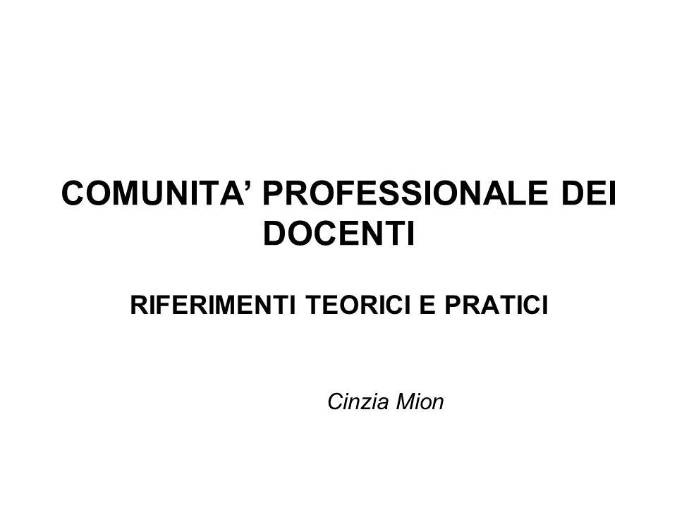 COMUNITA' PROFESSIONALE DEI DOCENTI