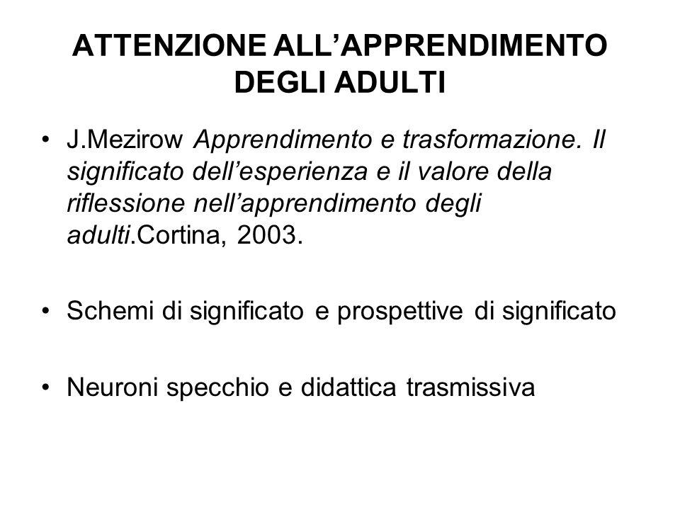 ATTENZIONE ALL'APPRENDIMENTO DEGLI ADULTI