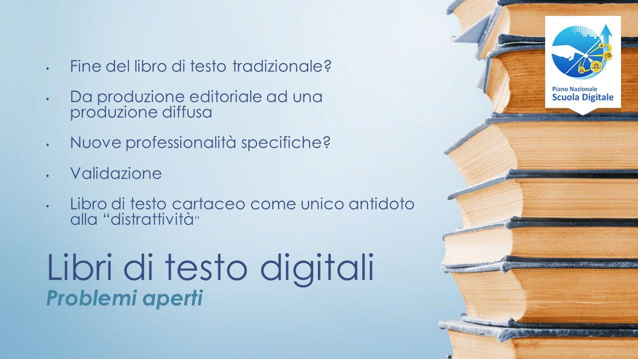 Libri di testo digitali Problemi aperti