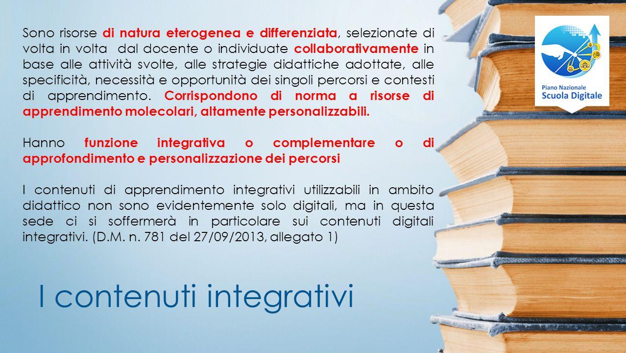 I contenuti integrativi