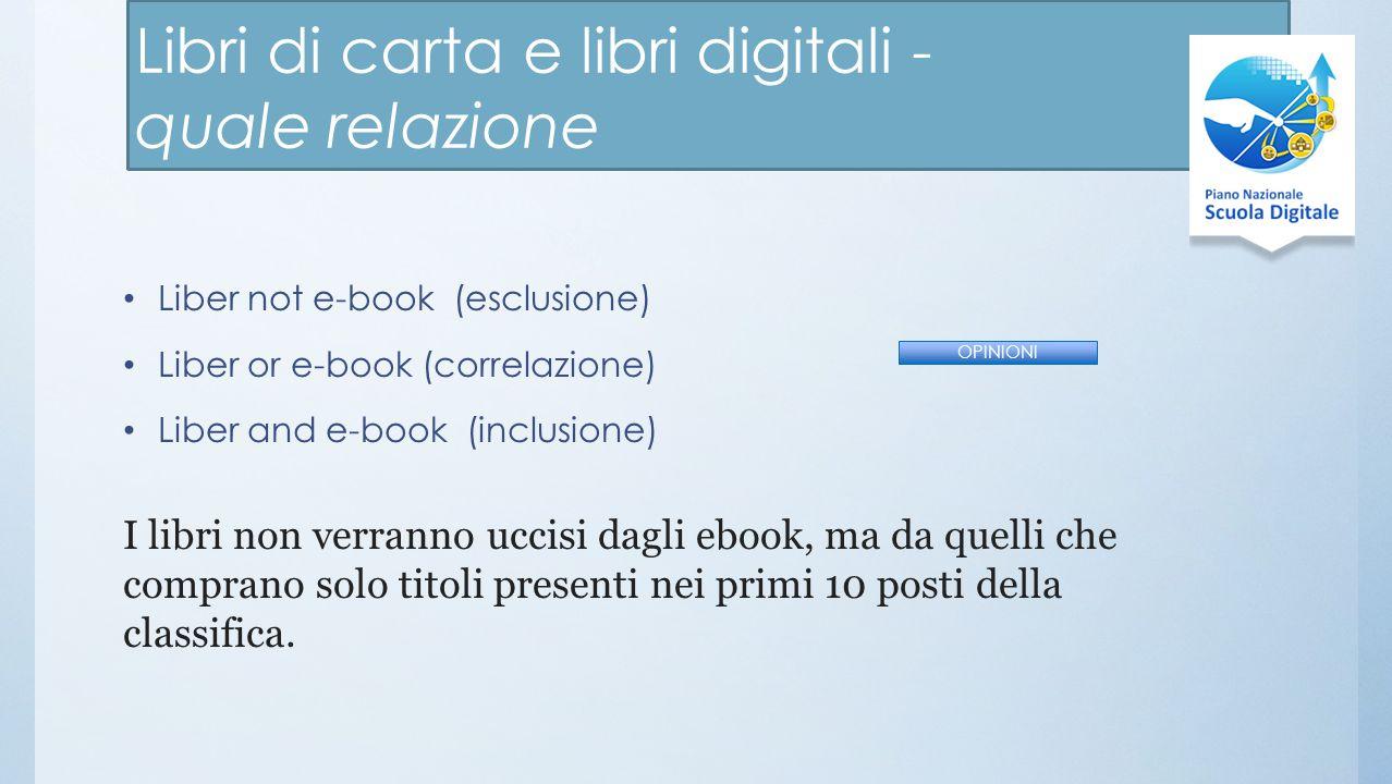 Libri di carta e libri digitali - quale relazione