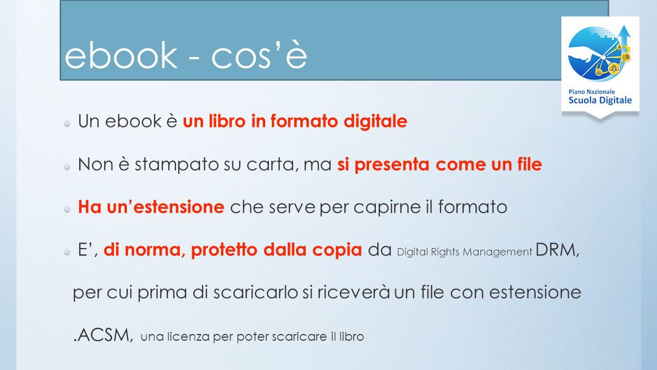 ebook - cos'è Un ebook è un libro in formato digitale