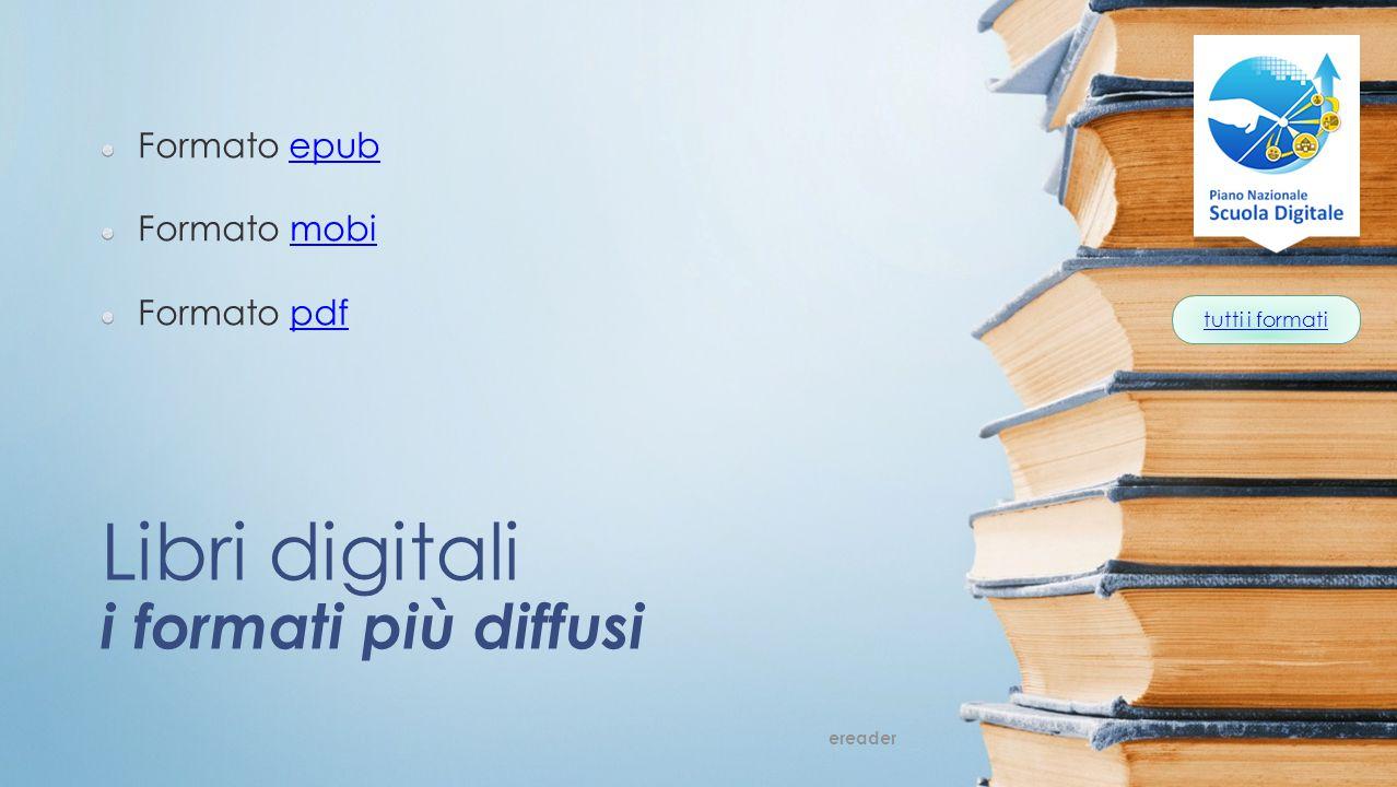 Libri digitali i formati più diffusi