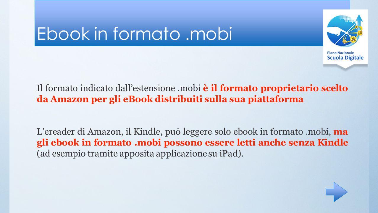 Ebook in formato .mobi