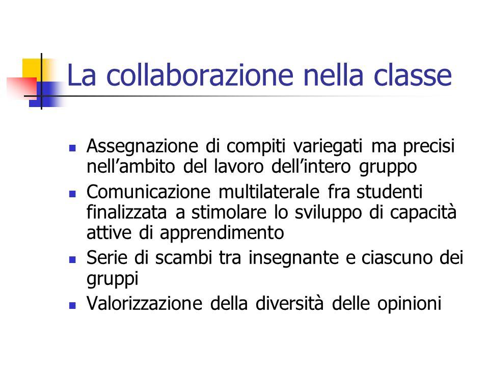 La collaborazione nella classe