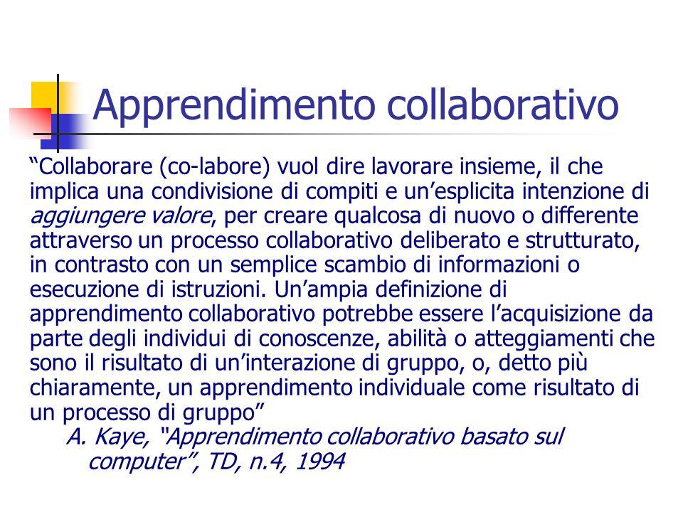 Apprendimento collaborativo